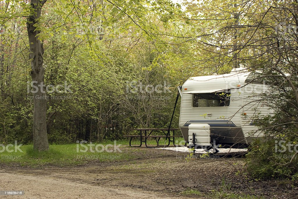 Trailer Camp Site stock photo
