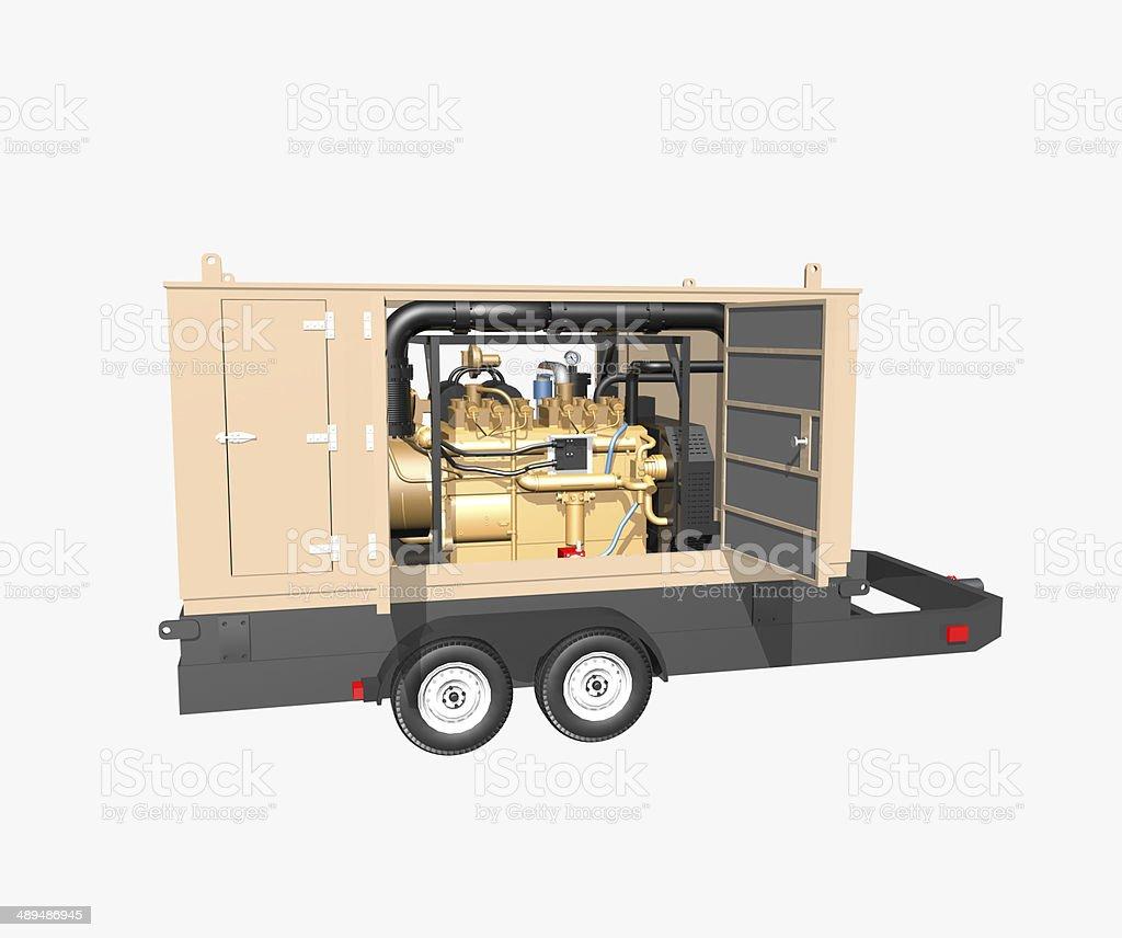 Trailer generator stock photo
