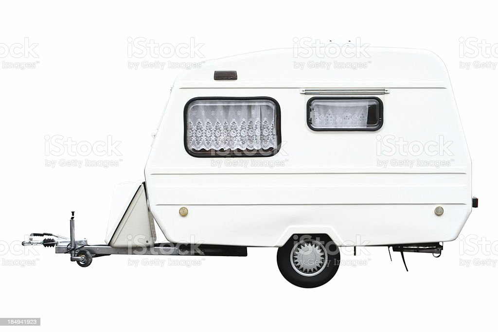 Trailer Isolated royalty-free stock photo