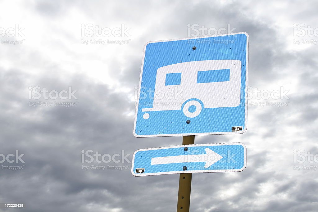 Trailer Parking Sign royalty-free stock photo