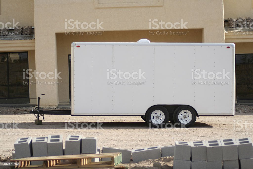 Trailer Sign stock photo