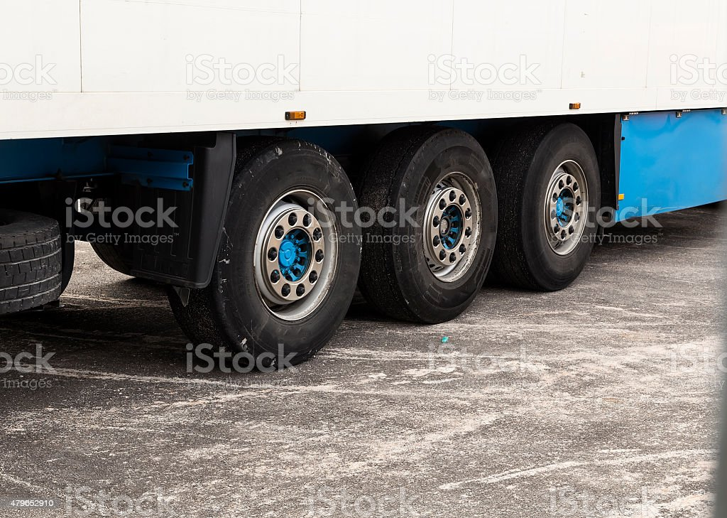 Trailer tires royalty-free stock photo