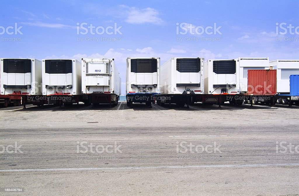 trailer - trade royalty-free stock photo
