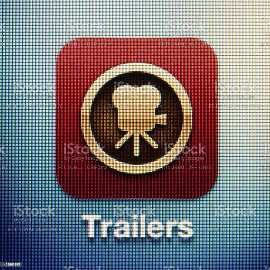 Trailers stock photo