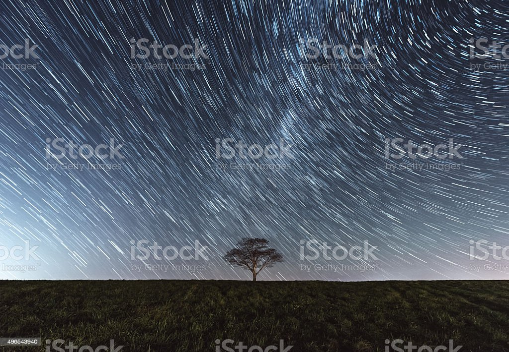 Trailing Stars Above stock photo