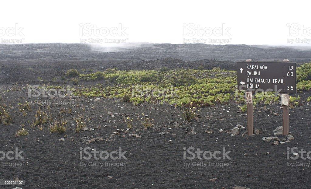 Trailmarker in Haleakala Crater royalty-free stock photo