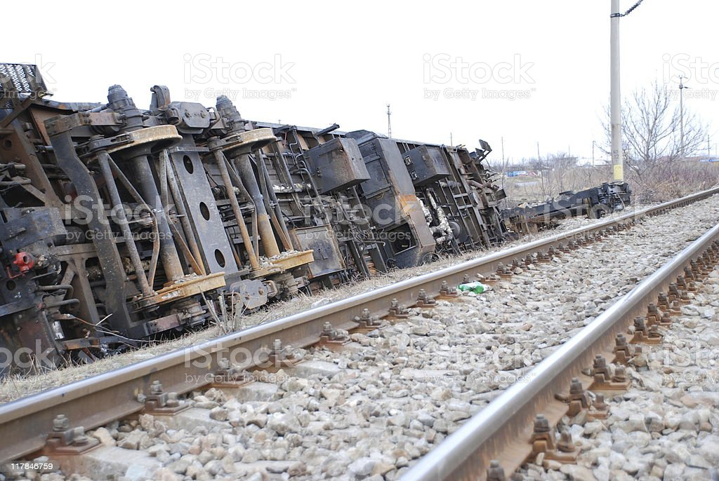 Train accident royalty-free stock photo