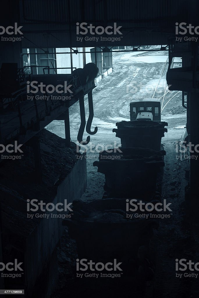Train and railroad track royalty-free stock photo