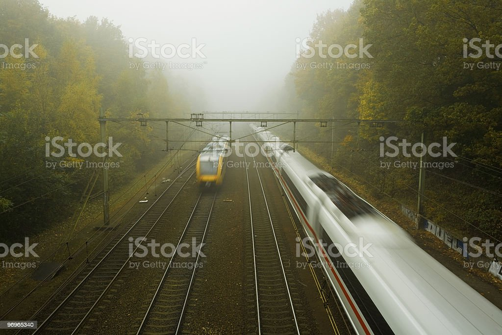 Train and railway stock photo