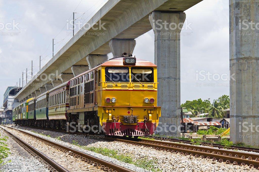 Train and sky railroad royalty-free stock photo