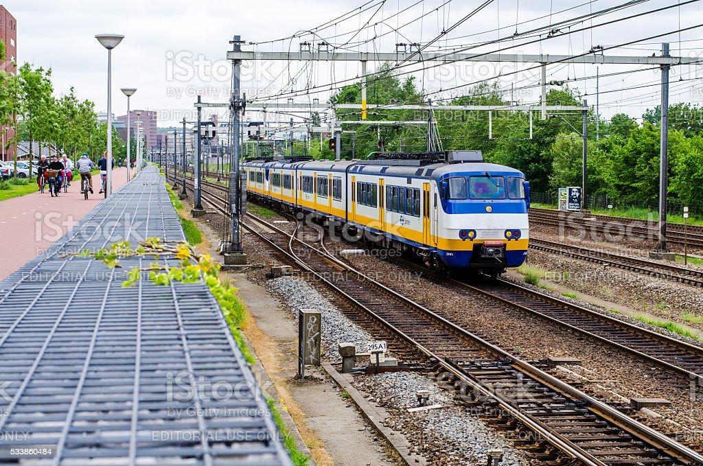 Train at Amersfoort stock photo