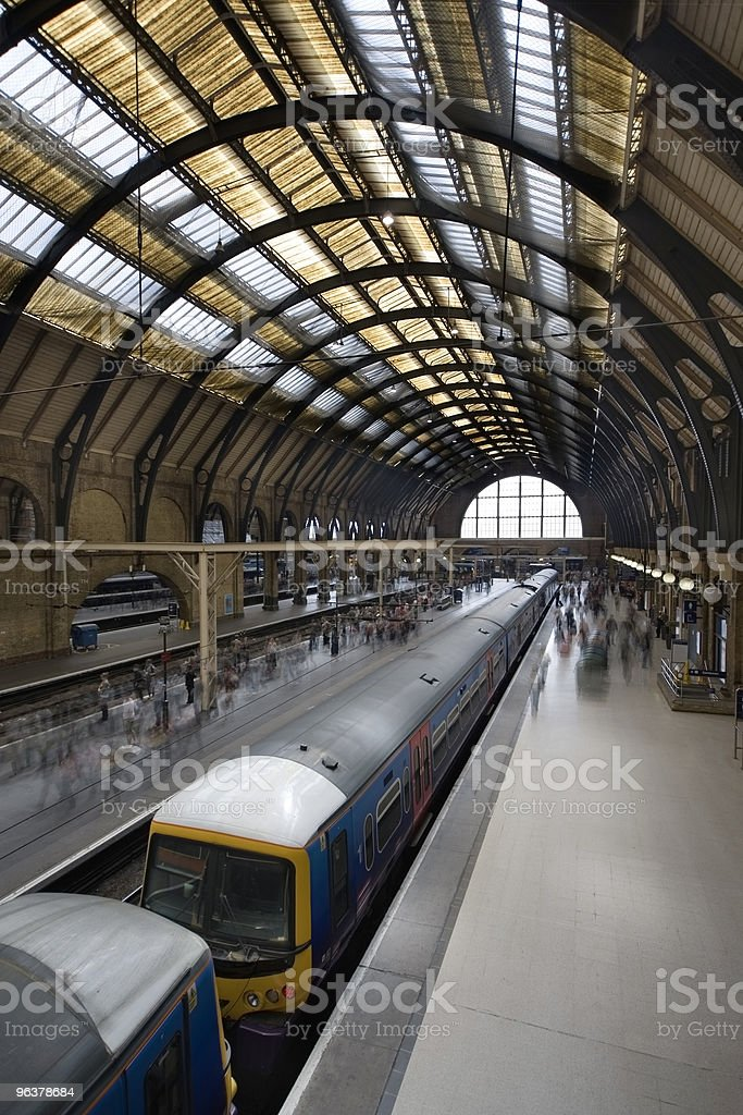 Train at Kings Cross Station, London stock photo