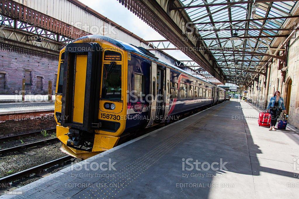 Train at Perth Station stock photo