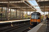 Train at platform of Parramatta railway station