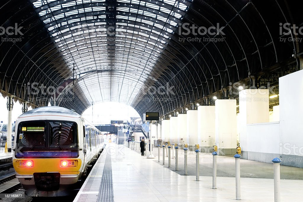Train at platform royalty-free stock photo