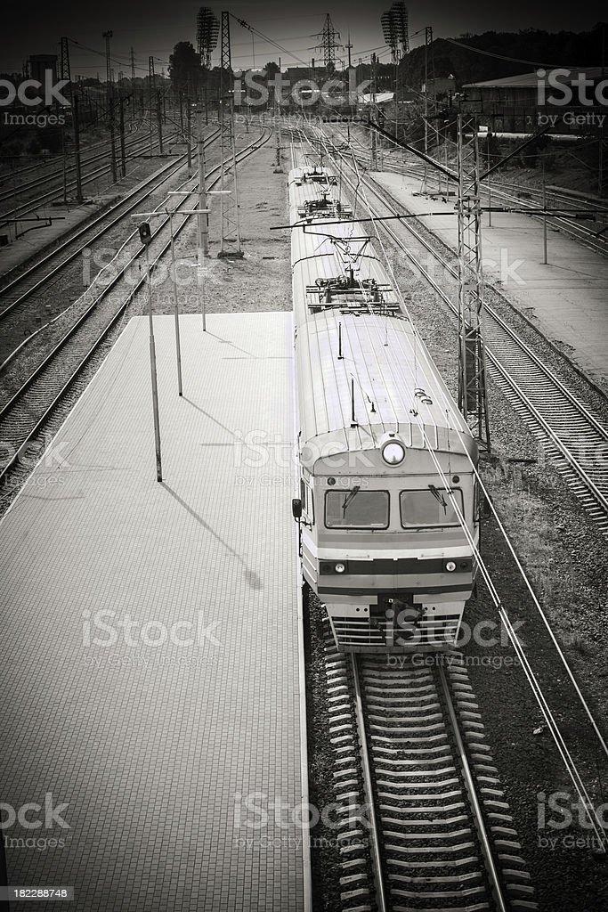 Train at station royalty-free stock photo