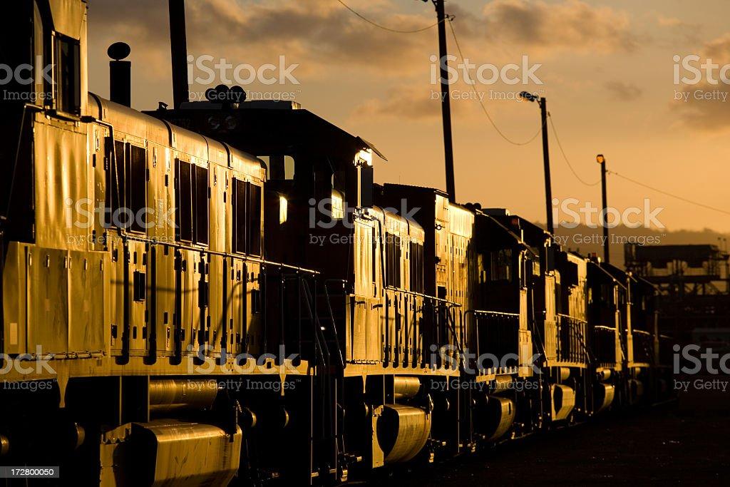 Train At Sunset stock photo