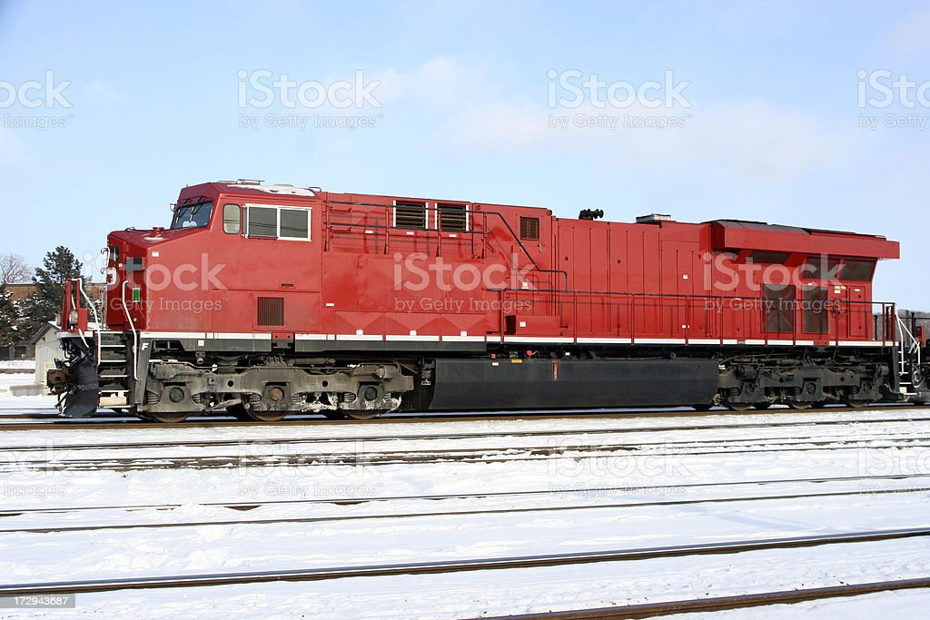 Train, big and red royalty-free stock photo