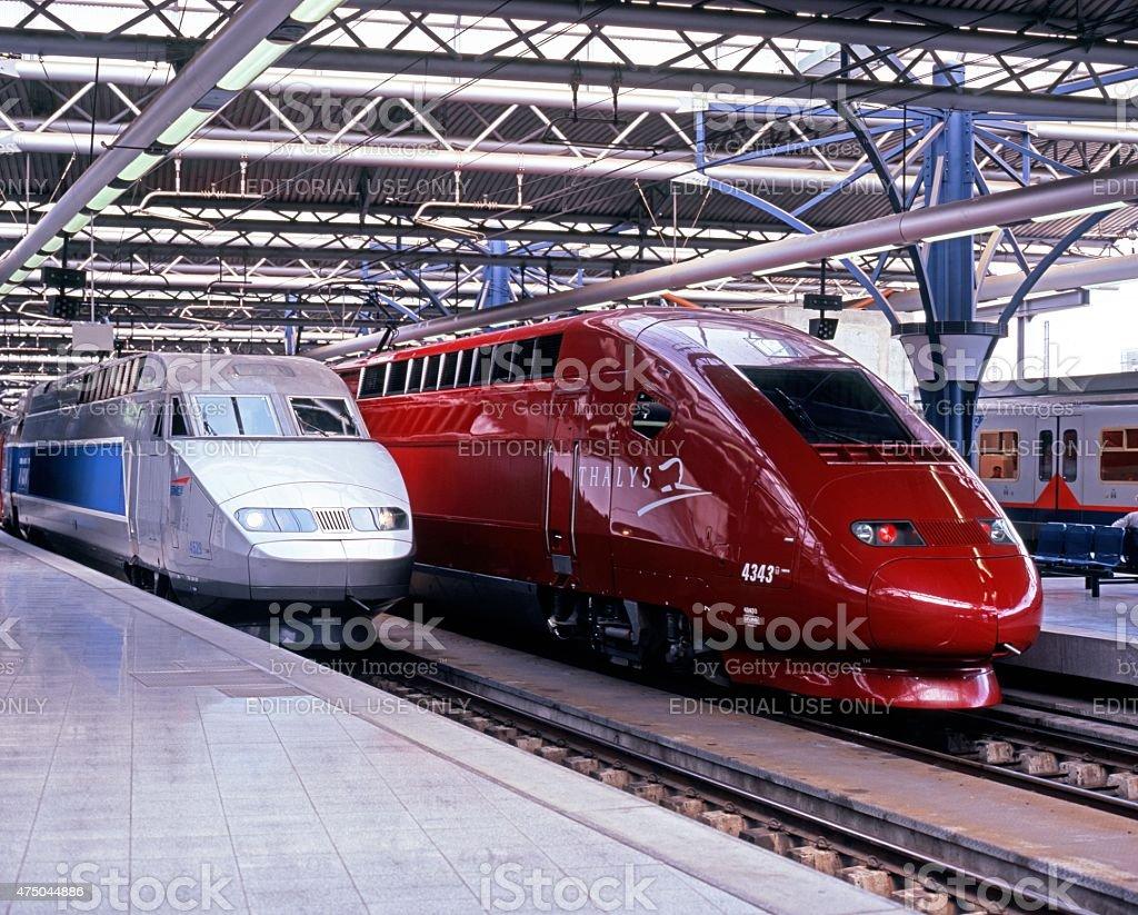 TGV train, Brussels. stock photo