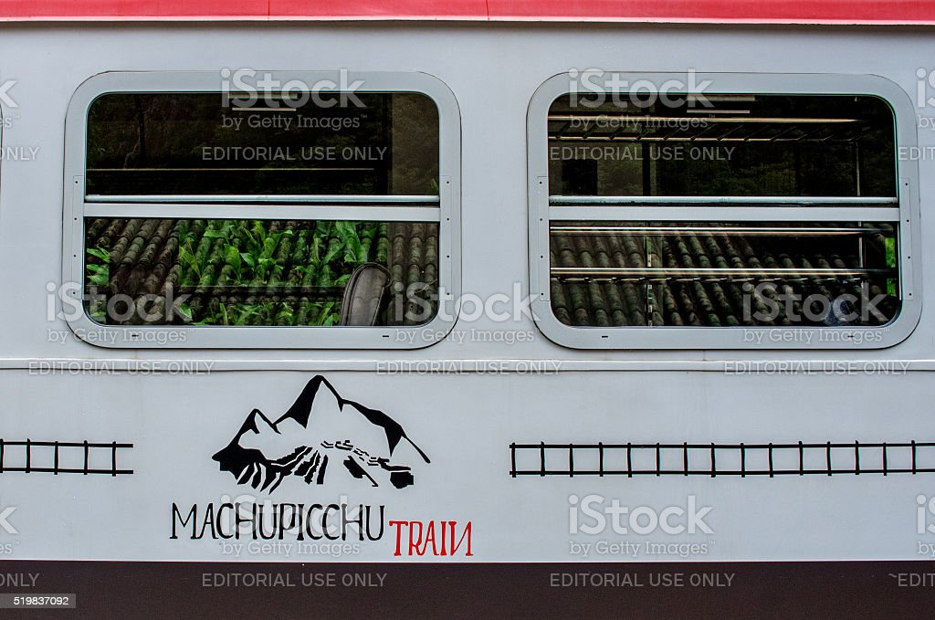 Train connecting Cusco and Machu Picchu in Peru stock photo