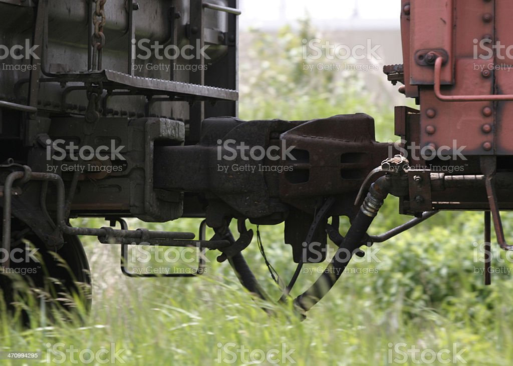 Train Coupling royalty-free stock photo
