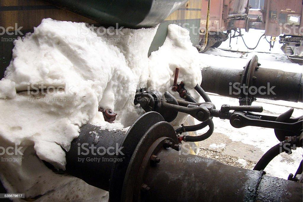 Train coupling stock photo