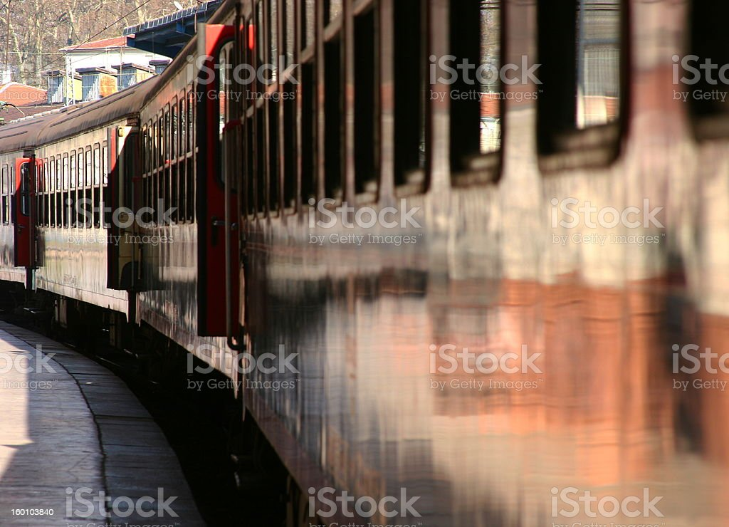 Train Departure royalty-free stock photo