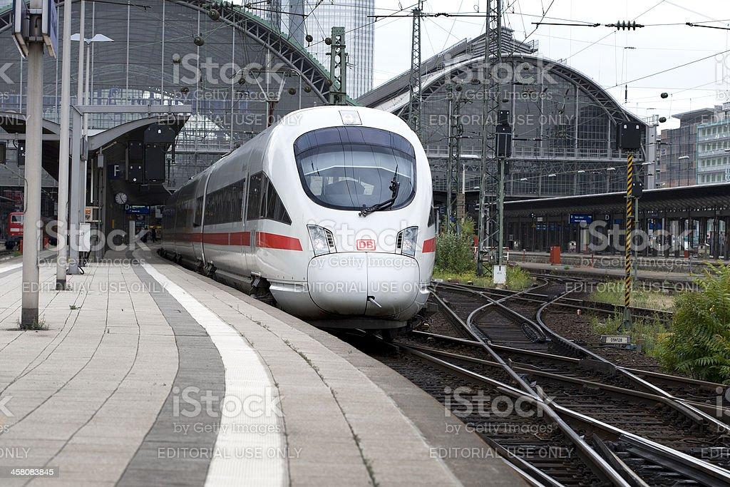 ICE train departure stock photo