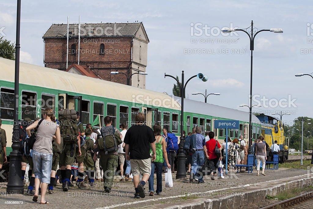 Train departure stock photo