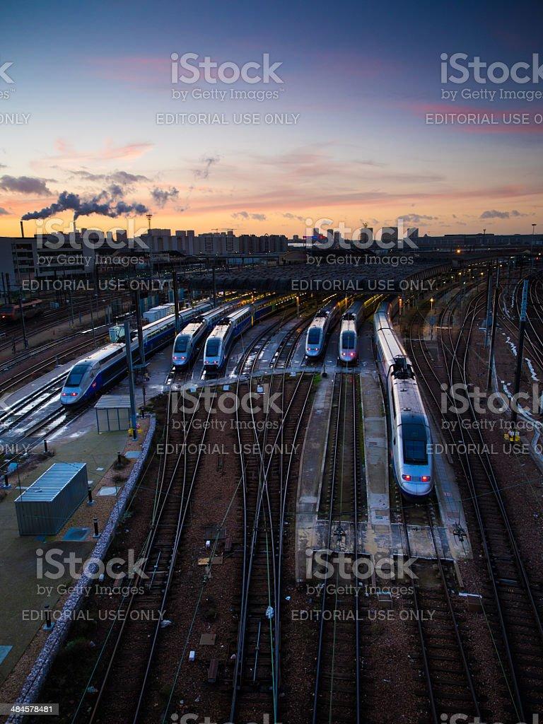 Train depot 'Technicentre Sub-est Paris' stock photo