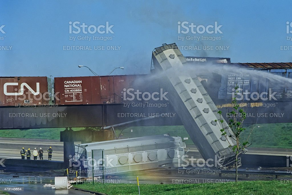 Train Derailment, May 22 1995 stock photo