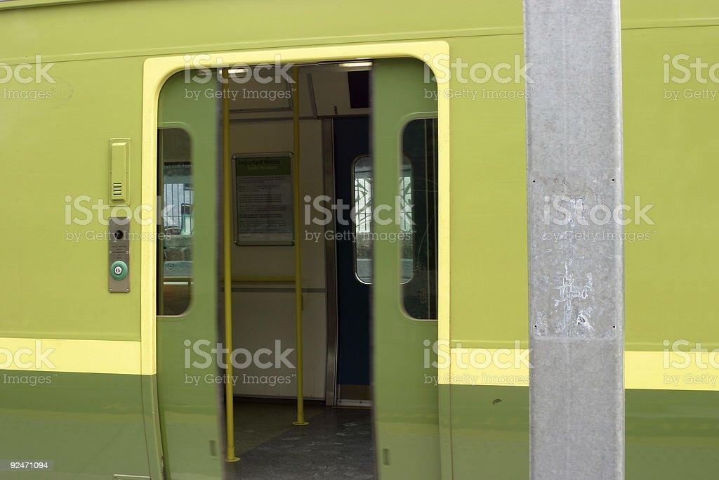 Train doors stock photo