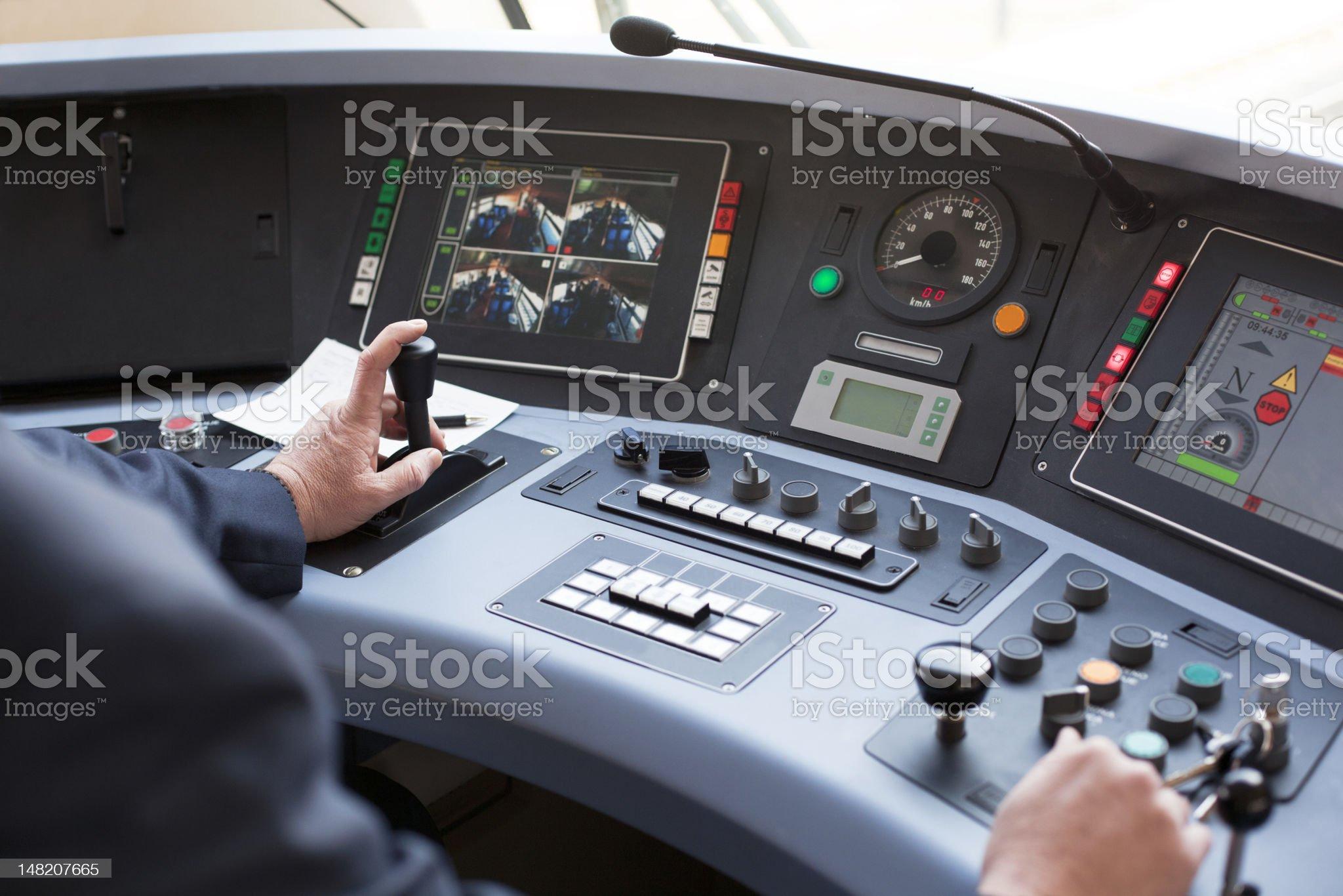 Train driver royalty-free stock photo