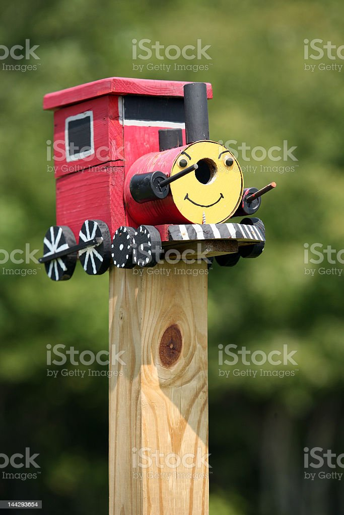 Train Engine Birdhouse royalty-free stock photo