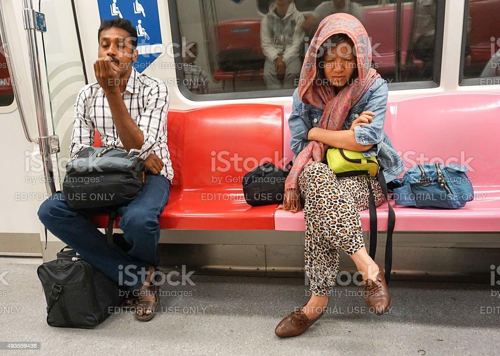 MRT train entrance in Bangkok stock photo