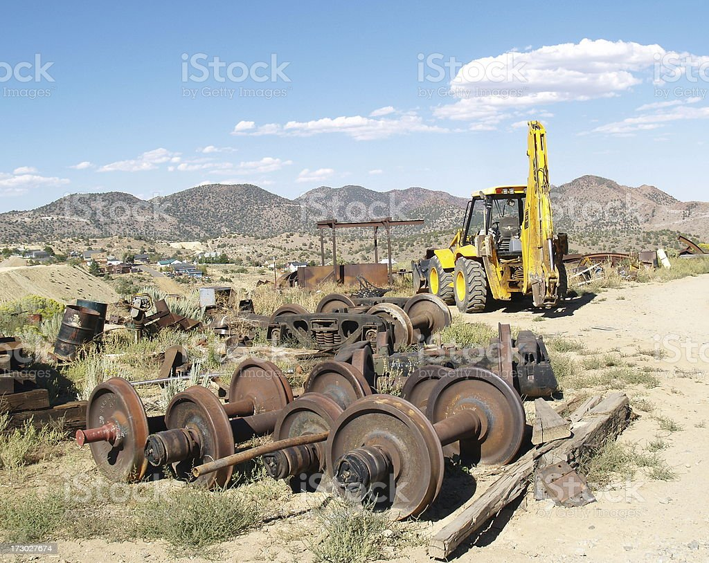 Train Graveyard stock photo