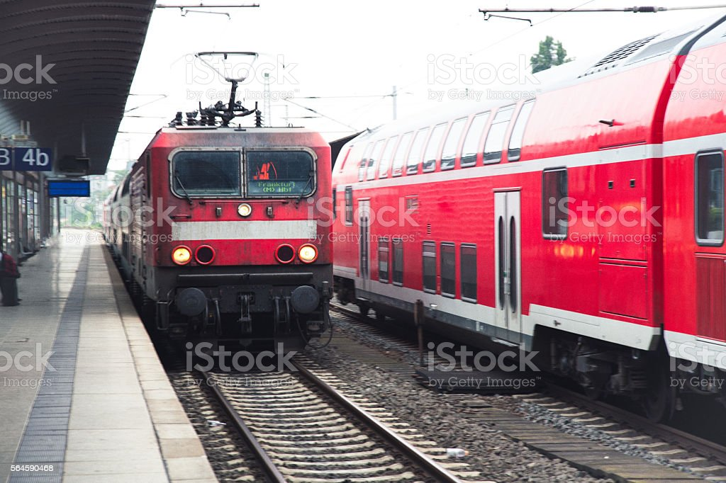 Train In A Munich, Germany Station stock photo