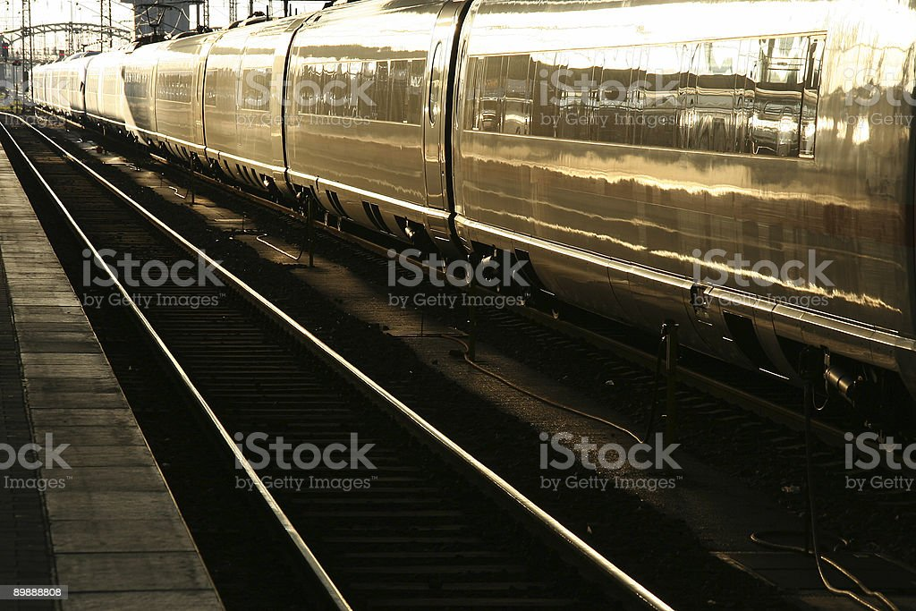Train in Back Lit royalty-free stock photo