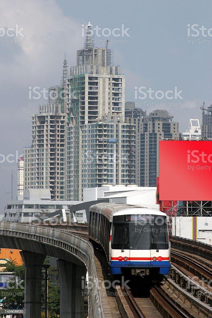 Train in Bangkok, Thailand royalty-free stock photo