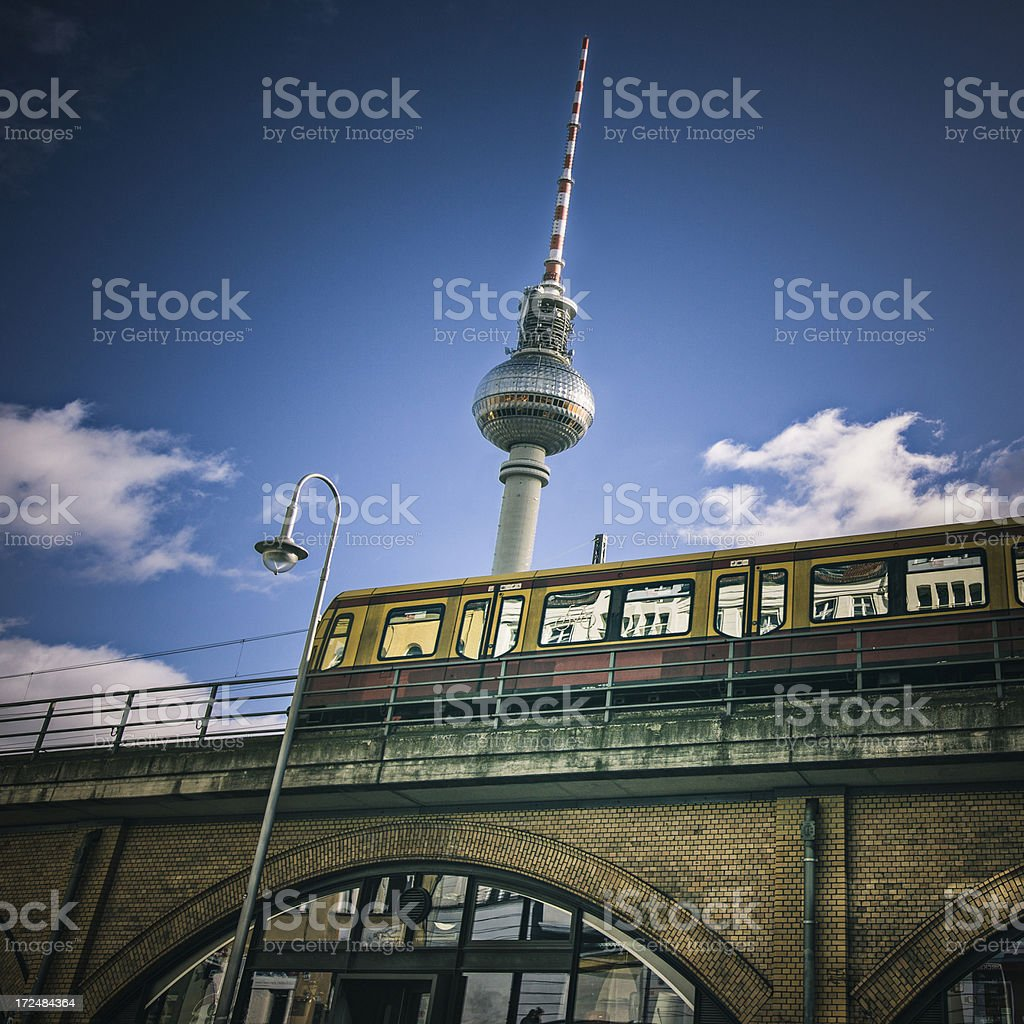 Train in Berlin royalty-free stock photo