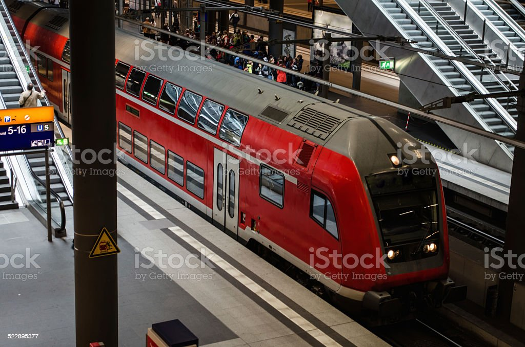Train in Berlin stock photo