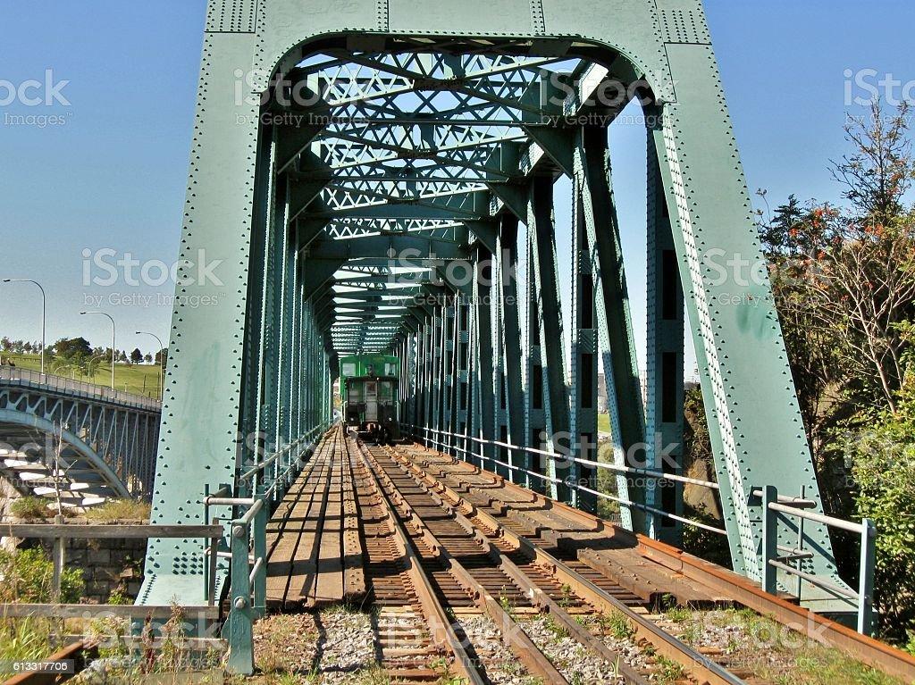 Train in Bridge stock photo