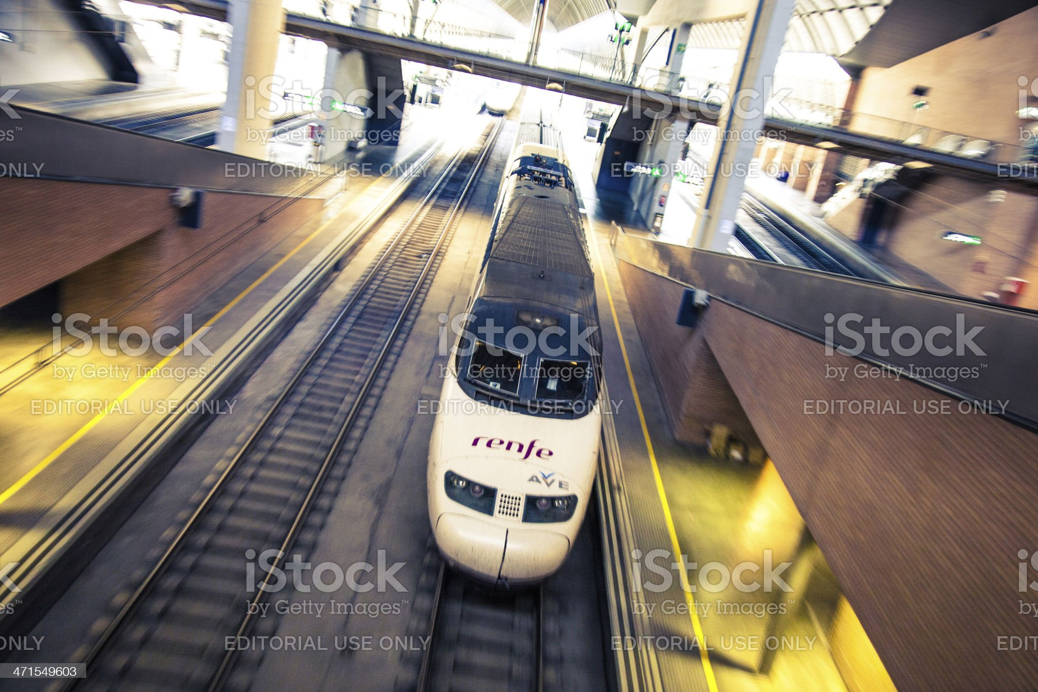 Train in central railway station royalty-free stock photo