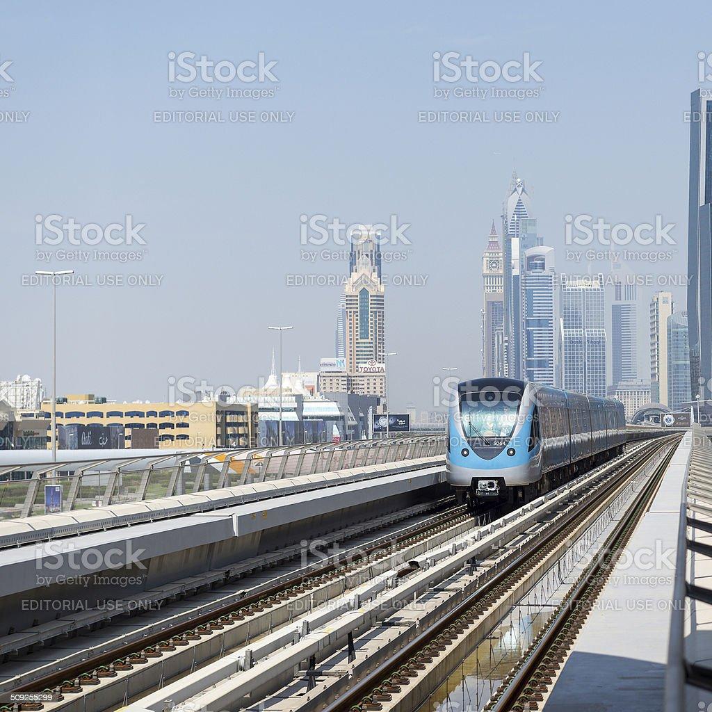 Train in Dubai. stock photo