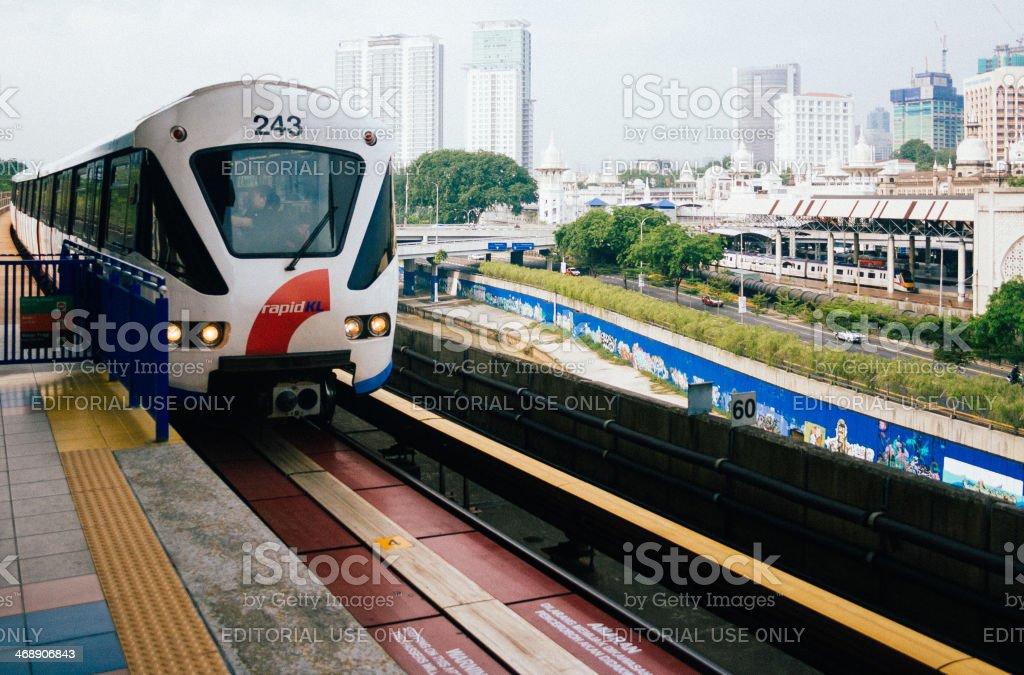 Train in Kuala Lumpur royalty-free stock photo