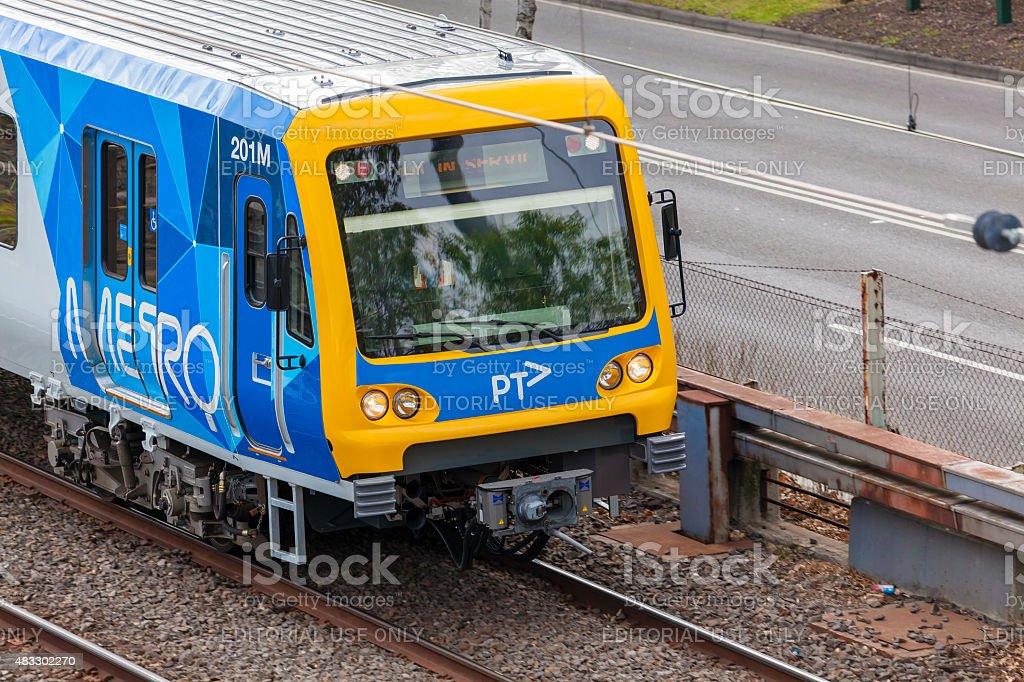 Train in Melbourne, Australia stock photo