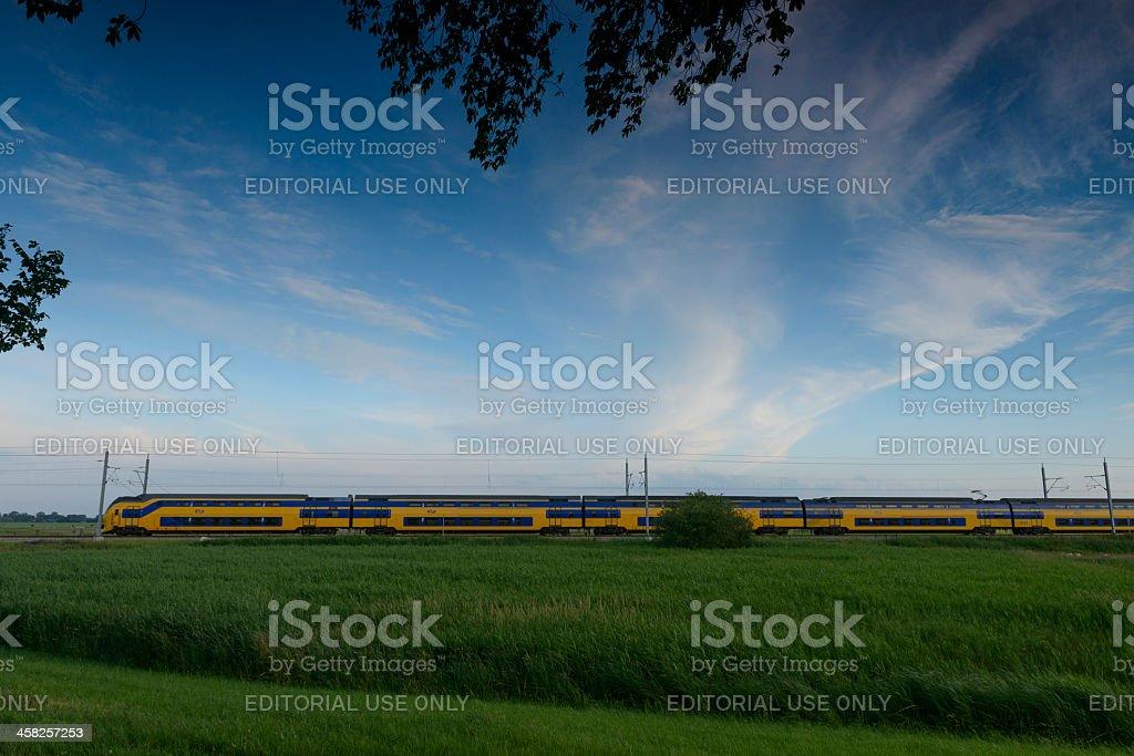Train in nature stock photo
