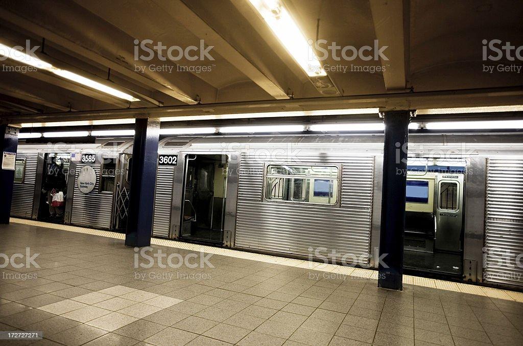 Train in New York City stock photo