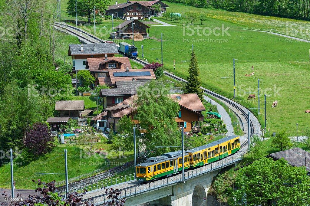 Train in Switzerland stock photo