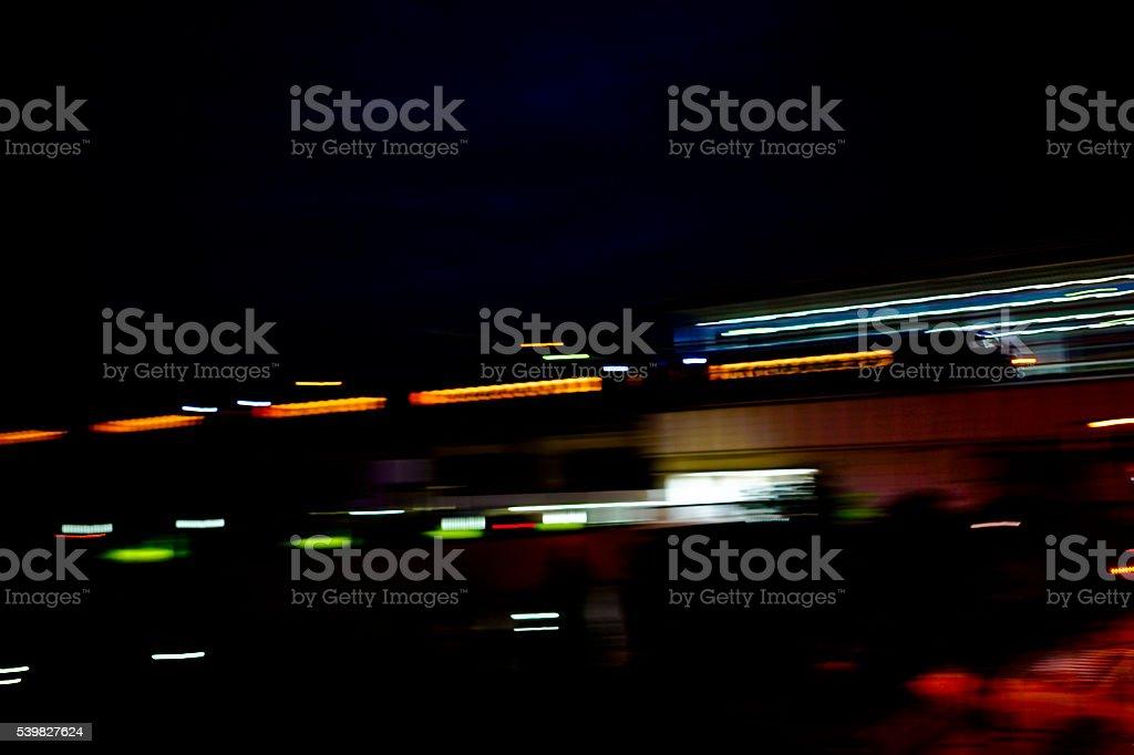 Train in the night stock photo